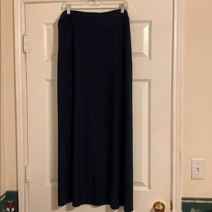 New York & Co Navy Knit Maxi Skirt